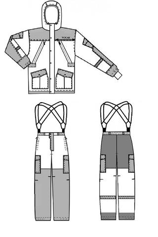 Костюм Горка зимний (ткань алова Соты)