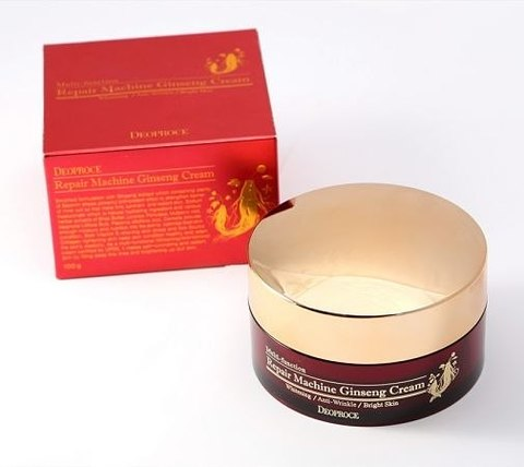 Крем с экстрактом жень-шеня | DEOPROCE REPAIR MACHINE GINSENG CREAM  (100мл)