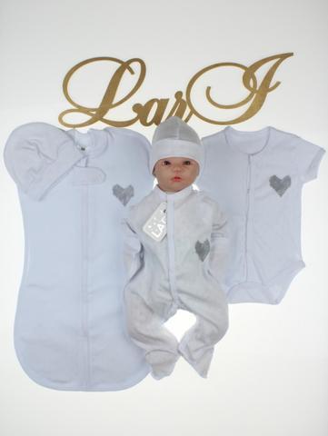 Комплект для новорожденных Карапуз (5 предметов, белый)