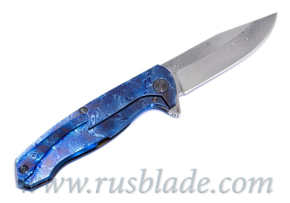 Cheburkov Custom Wolf Damascus Timascus 2 - фотография