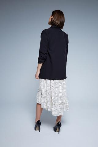 удлиненный черный пиджак женский купить