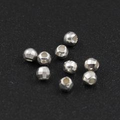 Бусина граненая Диско 2,8х2,5 мм серебро 925