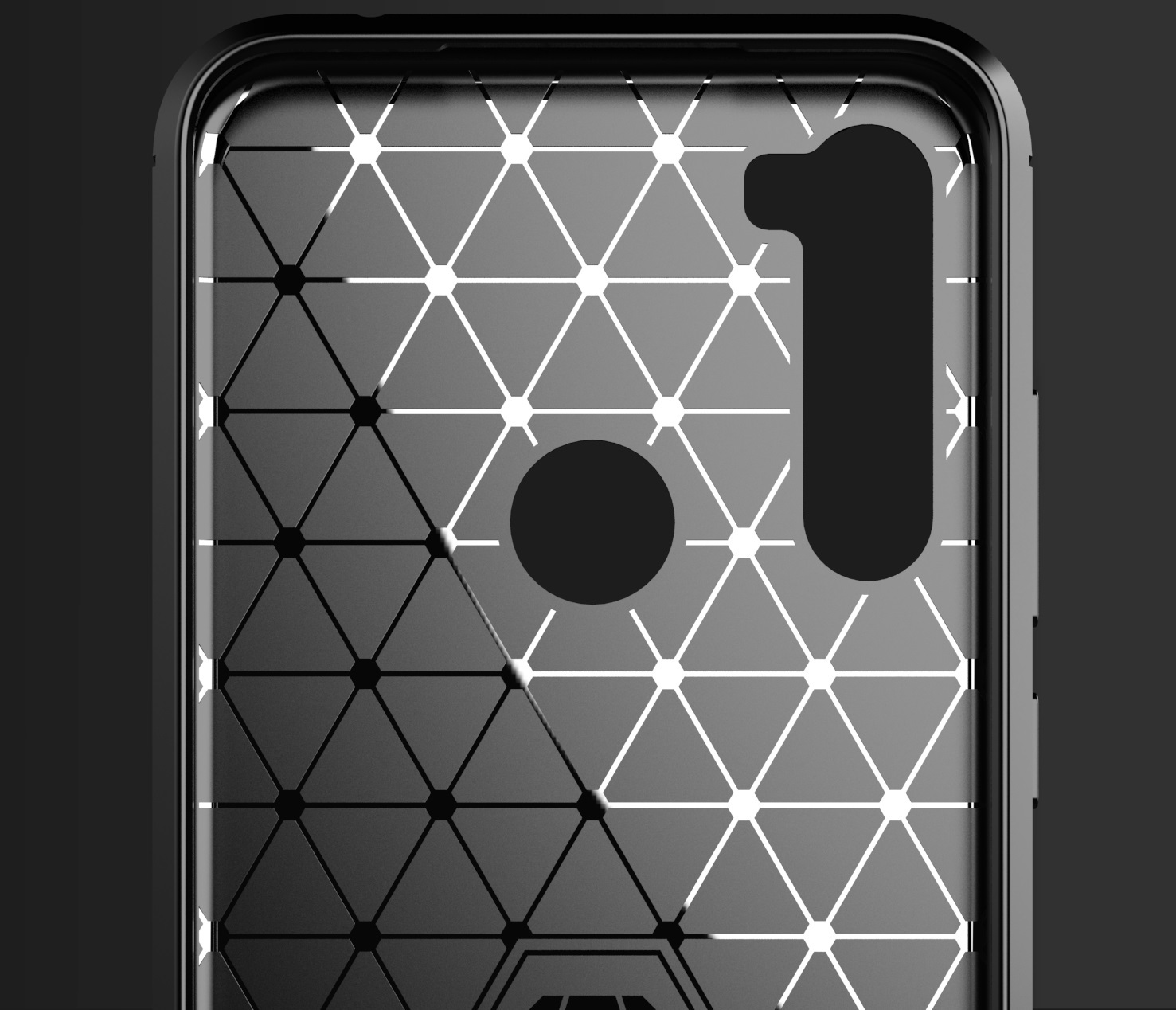 Чехол для Xiaomi Redmi Note 8T цвет Black (черный), серия Carbon от Caseport