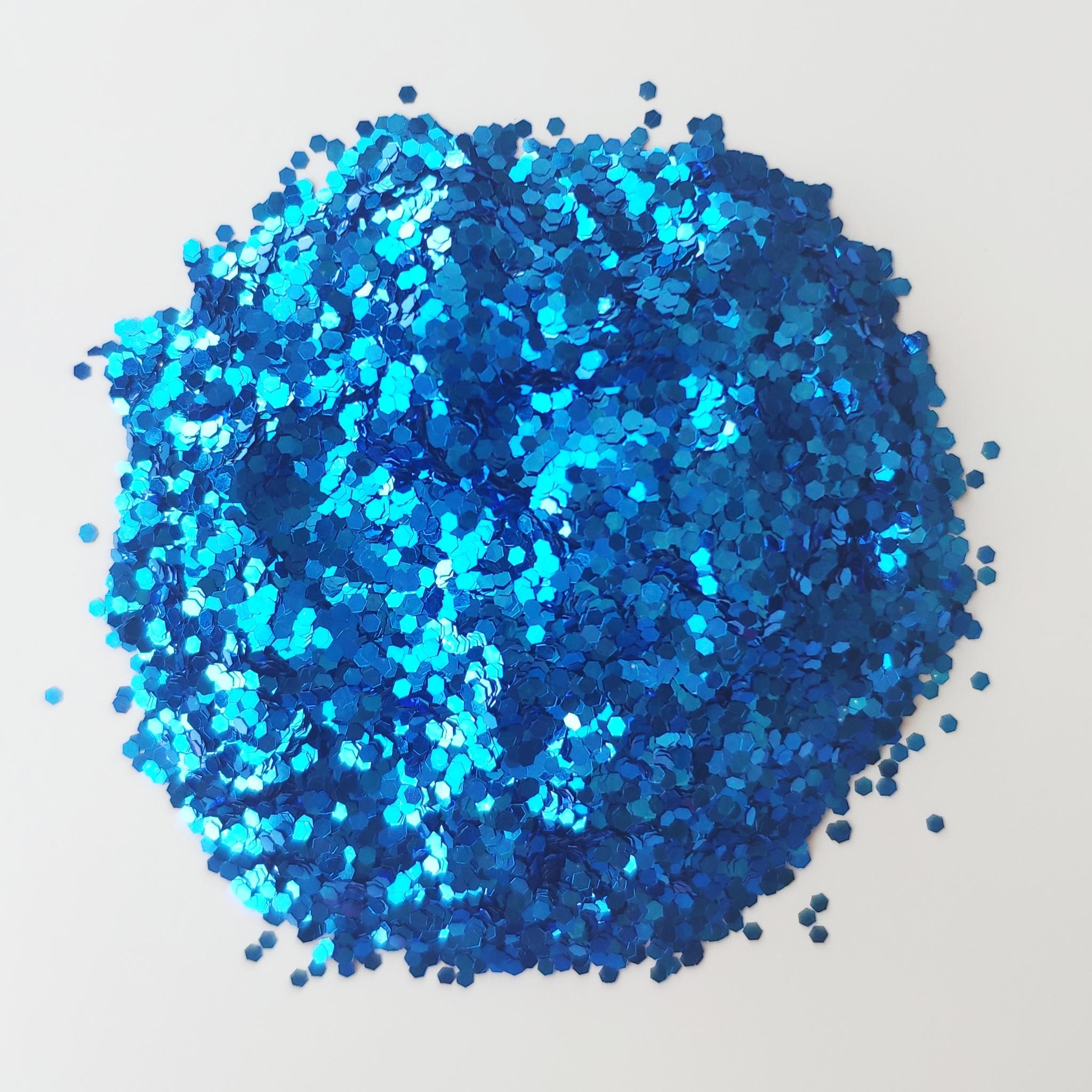 Блестки для слайма крупные профи синий ультрамарин 20мл