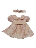 Платье хлопковое кружево принт - Розовый. Одежда для кукол, пупсов и мягких игрушек.