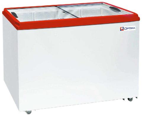 Ларь морозильный  OPTIMA 400С PRIME ( с прямым стеклом ) (1206х632х794h, кВт.ч./сут3,4)