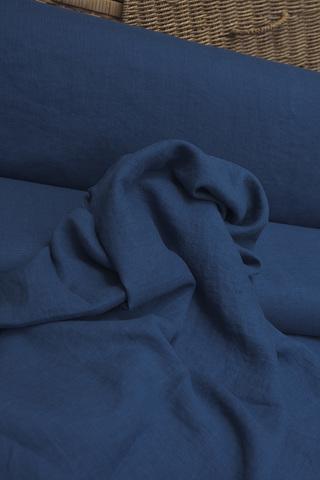 Лен смягченный, цвет насыщенный синий