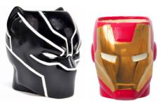 Марвел Мстители кружка Железный человек и Черная пантера