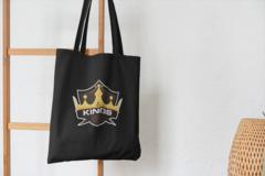 Сумка-шоппер с принтом НХЛ Лос-Анджелес Кингз (NHL Los Angeles Kings) черная 004
