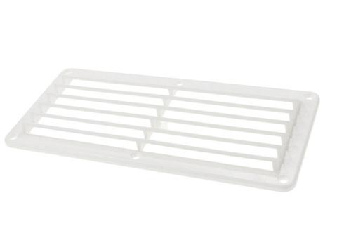 Решетка воздухозаборника 260х125х17 мм, белая