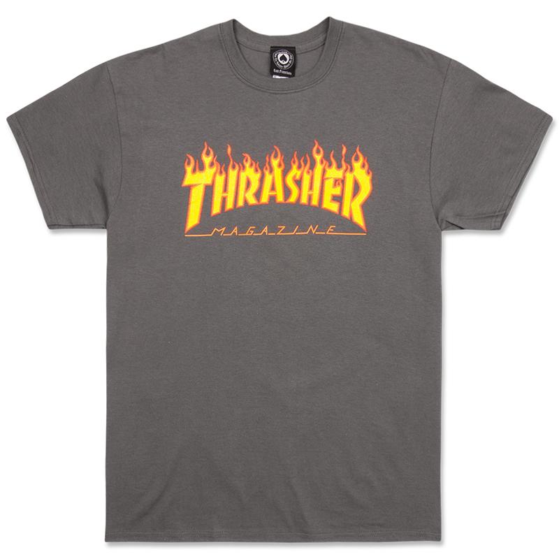 Футболка THRASHER Flame Charcoal