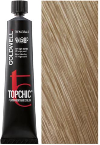 Goldwell Topchic 9N@BP - очень светлый блонд с бежево-перламутровым сиянием (жемчужный блонд) TC 60ml
