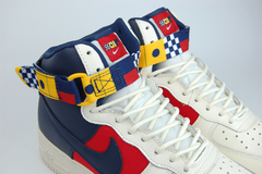 кроссовки Nike Air Force 1 Mid White / Red / Blue