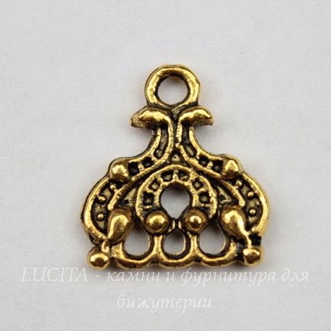 Коннектор (1-3) 14х13 мм (цвет - античное золото)