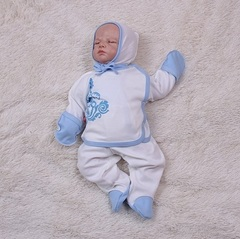 Комплект для новорожденных в роддом Monogram (голубой)