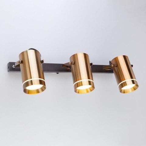 Настенный светодиодный светильник с поворотными плафонами 20063/3 LED античная бронза
