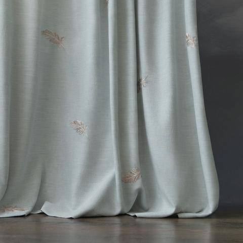 Комплект штор с вышивкой Плаза голубой
