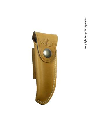 Чехол кожаный на пояс для складного ножа с лезвием 12 см. натурального цвета., Forge de Laguiole, дизайн Buron B 3 F