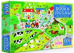 Usborne Book and Jigsaw On the Farm