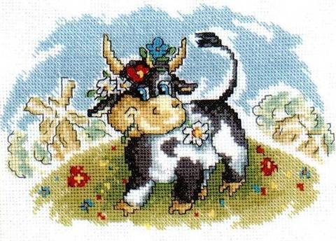 C089 Корова на лугу