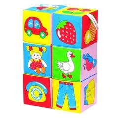 """Набор развивающих мягких кубиков """"Предметы"""""""