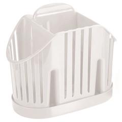 Сушилка для столовых приборов трехсекционная пластиковая Idea белая (артикул производителя М-1160)