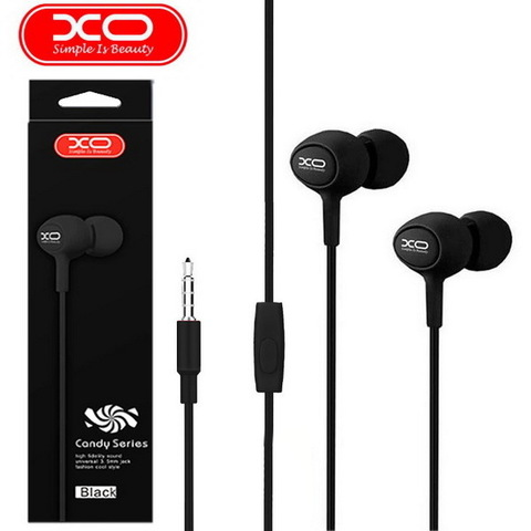 Гарнитура вакуумная XO S6 Candy music (black)