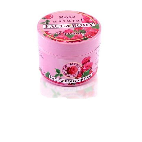 FACE AND BODY CREAM ROSE NATURAL 300 мл