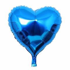 Шар сердце синий