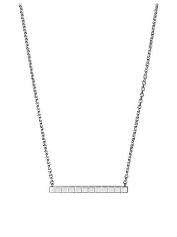 Колье из серебра с минималистической подвеской без фианитов