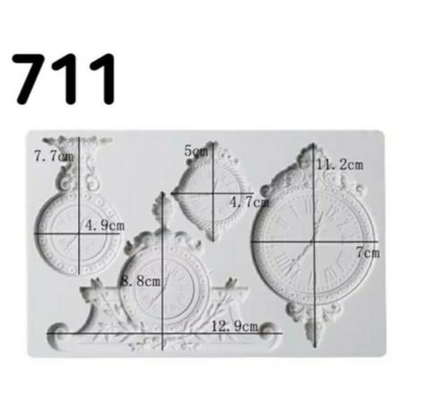 Молд Часы, Арт.PO-0711, силикон
