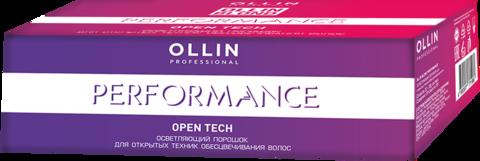 OLLIN BLOND PERFORMANCE Open Tech Осветляющий порошок для открытых техник обесцвечивания волос 30г