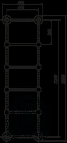 Полотенцесушитель водяной Migliore Edera ML.EDR-HY.210 120см. схема