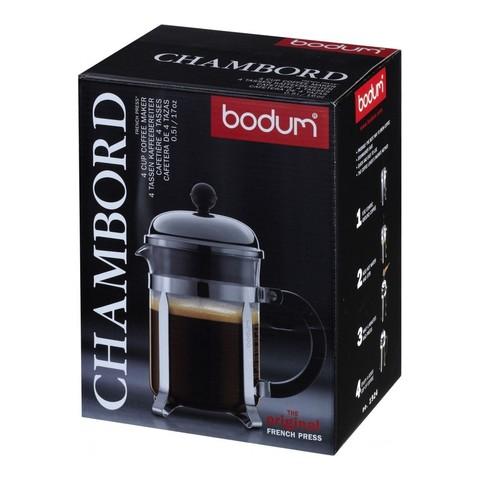 Френч-пресс Bodum Chambord (0,5 литра), хром