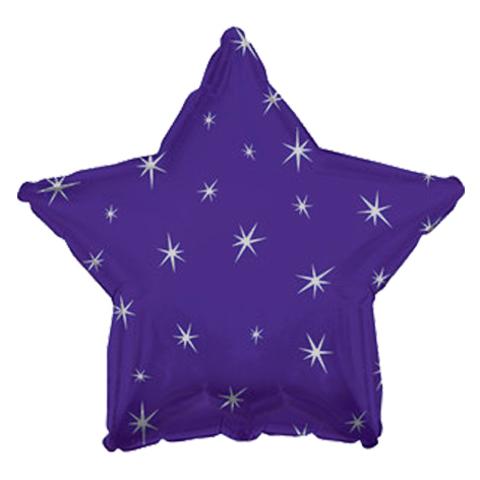 Звезда Фиолетовая Искры, 45 см