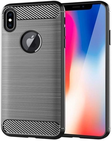Чехол для iPhone X цвет Gray (серый), серия Carbon от Caseport