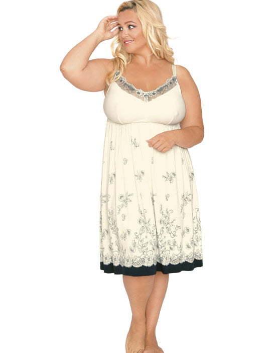 Сорочка с цветоным принтом Akcent