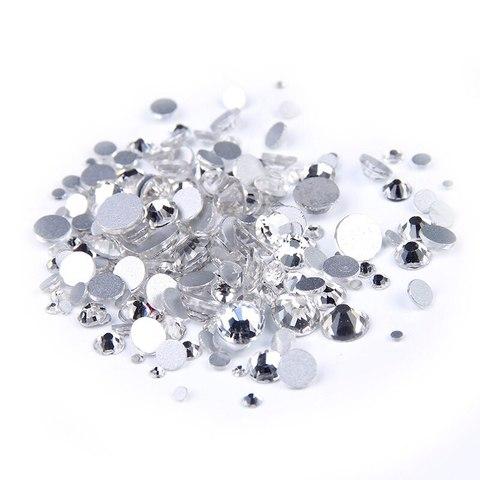 Стразы стекло MIX серебро - 1440 штук