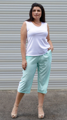 Бетти. Стильные брюки плюс сайз. Мята.