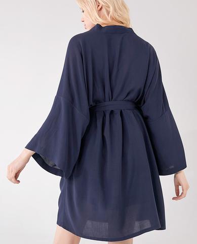 Халат- кимоно, цвет голубой