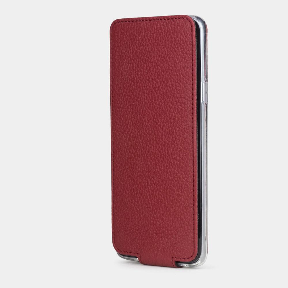 Чехол для Samsung Galaxy S9 из натуральной кожи теленка, вишневого цвета