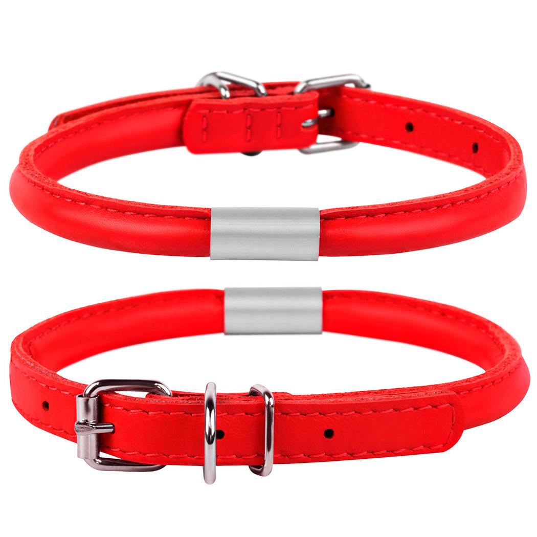 кожаные ошейники для собак collar с адресником купить