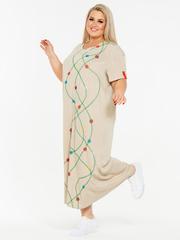 Льняное платье 130203345