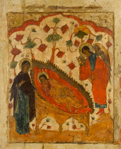 Икона Спас Недреманное Око на дереве на левкасе