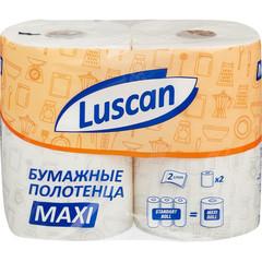 Полотенца бумажные Luscan Maxi 2-слойные белые 2 рулона по 35 метров