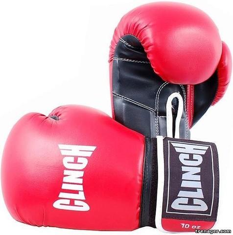 Перчатки боксерские Clinch 6 унций (С232-6-BE) красно/черные (ост)