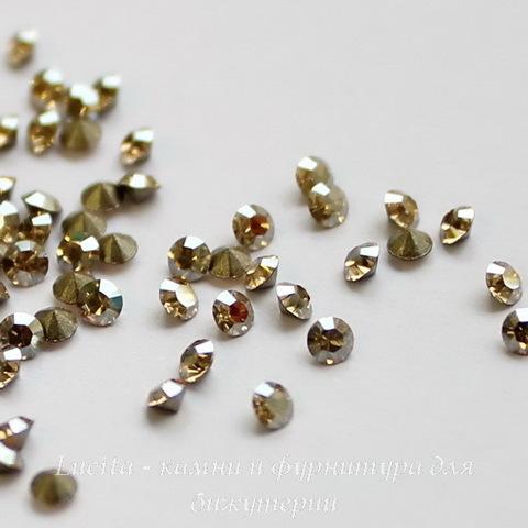 1028 Стразы Сваровски Crystal Golden Shadow PP 14 (2-2,1 мм), 10 штук ()