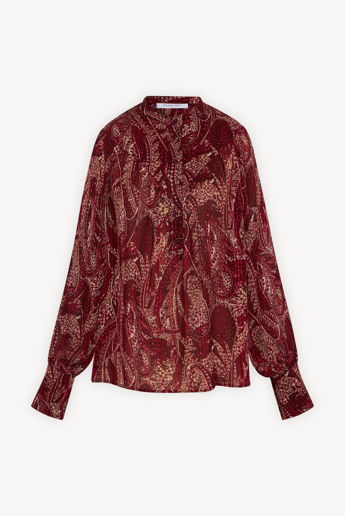 CAMILL - Струящаяся блуза с принтом