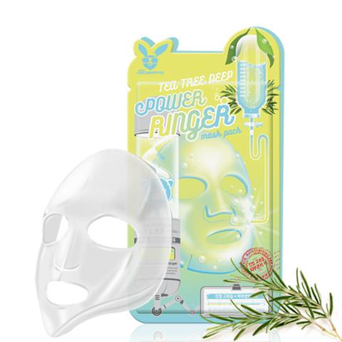 Elizavecca Тканевая маска для лица Чайное Дерево TEA TREE DEEP POWER Ringer mask pack, 23мл