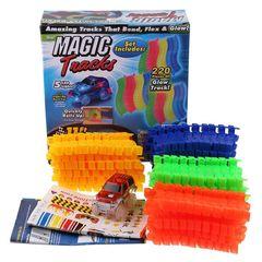 Светящаяся гоночная трасса-конструктор MAGIC TRACKS 220 деталей